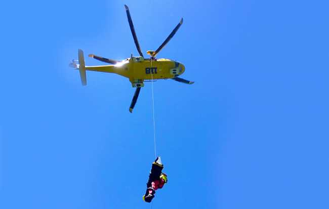 elicottero 118 recupero verricello