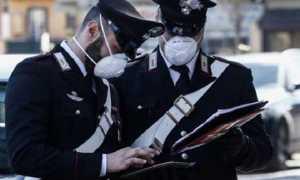 carabinieri mascherina covid